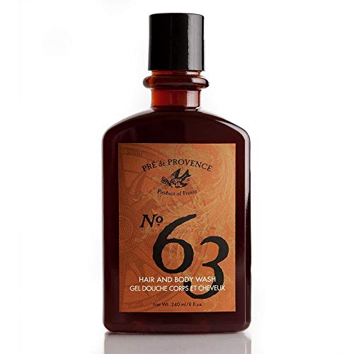 No. 63 Men's Shower Gel, Aromatic, Warm, & Spicy Masculine Fragrance, Enriched With Natural & Repairing Shea Butter & Aloe Vera (8 fl oz)