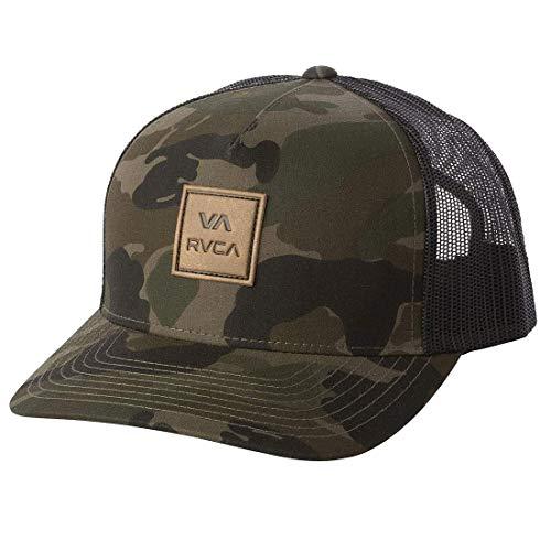RVCA unisex adult Rvca Men's Curved Bill Snapback Mesh Trucker Hat Baseball Cap, Camo, One Size US