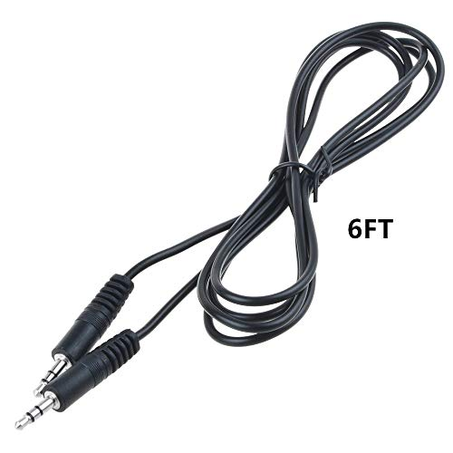 "HISPD 6ft Black Premium 3.5mm 1/8"" Audio Speaker Cable Car AUX-in Cord for Sony PSP 1001 PSP 2001 PB"