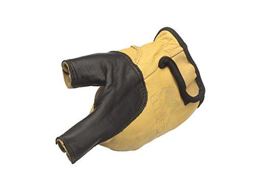 elToro Bogenhandschuh schwarz-gelb für die Linke Hand - Größe XS