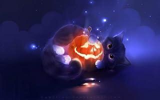 HXXCB 1000 stuks Jack-o-lantern cat 75×50 cm Kinderen Legpuzzels Houten Voor Volwassenen educatieve Stress Reliever puzzle...