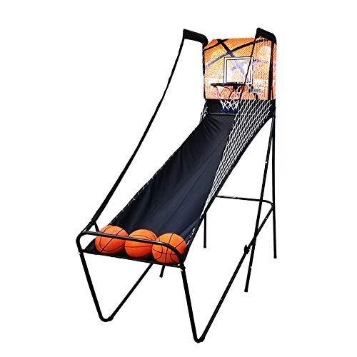 XINGLIAN Máquina De Baloncesto Juego Interactivo Interior Aro De Baloncesto Plegable Canasta Aro De Baloncesto con Marcador Electrónico para hasta 2 Horas De Jugadores