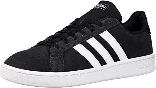 adidas mens Grand Court Tennis Shoe, Black/White, 10.5 US