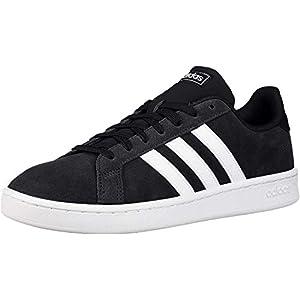 adidas mens Grand Court Tennis Shoe, Black/White, 12 US