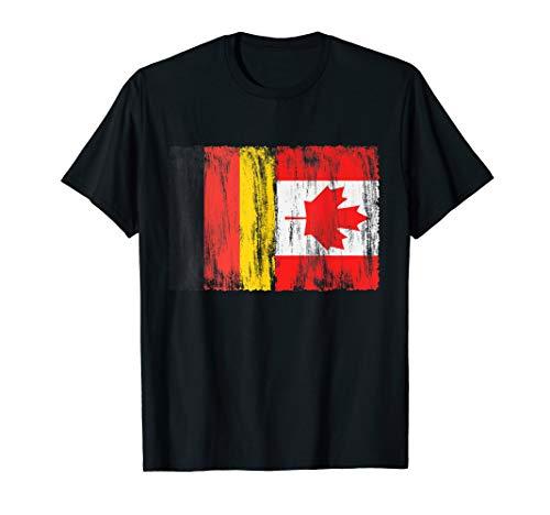 Deutschland und Kanada deutsch kanadisch Fahne Flaggen T-Shirt