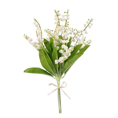 Lot de 2 bouquets de muguet artificiel - 32 cm - 6 brins par