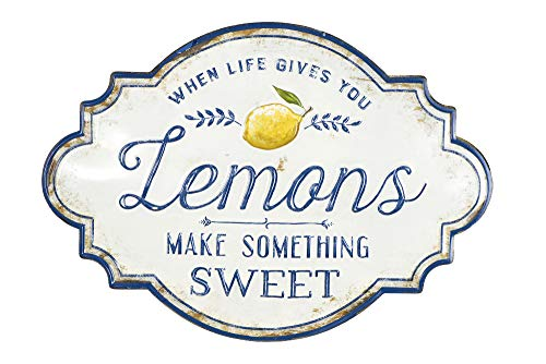 Creative Co-Op Life Gives You Lemons Make Something Sweet Metal Wall Décor, White