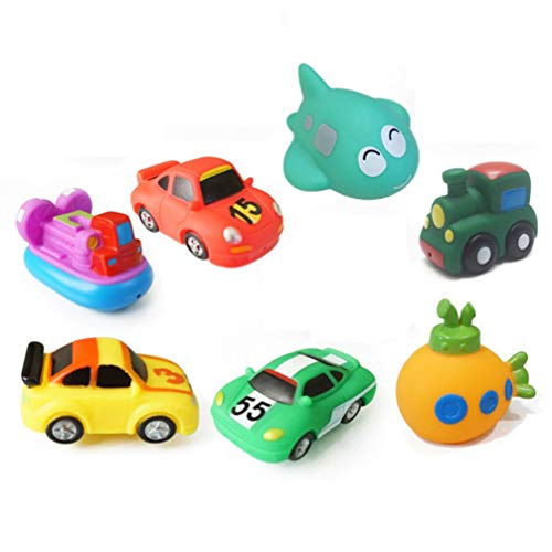 Why Choose Tomaibaby Bath Toys Funny Vehicles Rubber Bathing Toy Water Playing Toy for Baths, Pool, ...
