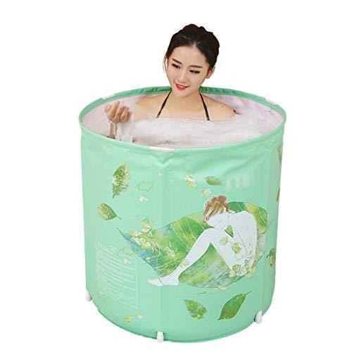 ZHYXJ-Bathtub Faltbare Badewanne - Tragbare Badewanne füR Erwachsene-Badewanne Moderner Minimalistischer Garten-Badewanne Im Badezimmer SPA Trage GrüN