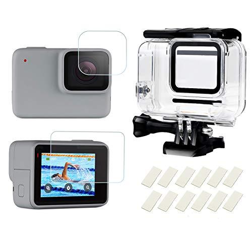 SHOOT Custodia Impermeabile Protettiva per GoPro Hero 7 White e Hero 7 Silver con Pellicola per Schermo Temperato e Inserto Anti-Nebbia