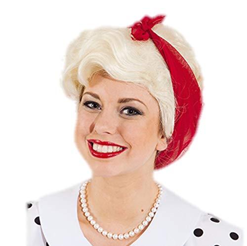 Emma faschingsperücke femme blonde avec chiffon de nettoyage