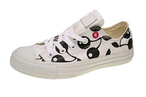 Converse Chuck Taylor All Star High Classic CTAS Hi Unisex Canvas Sneaker mit 7kmh Aufkleber Weiß 36