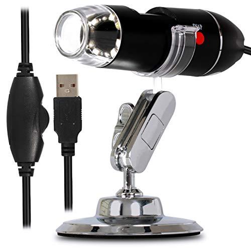 Microscópio Digital Zoom 1600x com Câmera de Ampliação 2.0mp 8 Leds com Conexão Usb e Suporte Para Pc Notebook Mac