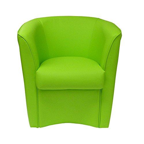 Totò Piccinni Poltrona Pozzetto Design Artigianale In Finta Pelle Made In Italy (Verde)