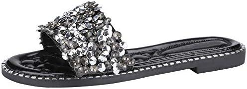 Women's Slide Sandal Summer Flip Flop Jelly Sandal Glitter Rhine