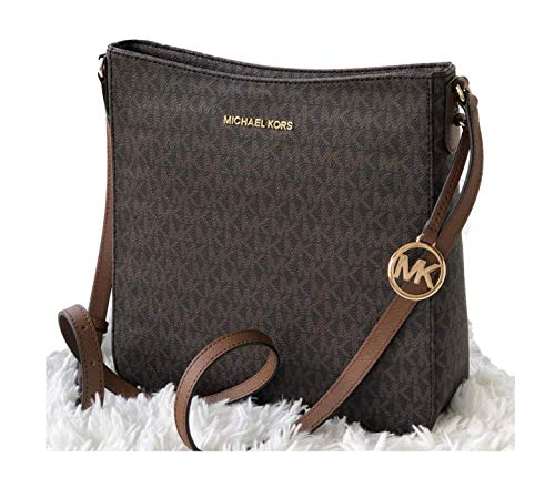 Made of PVC with logo detail on front; Zipper closure; Back open pocket; Open compartment with 2 slip pockets Large zip pocket; Adjustable crossbody strap of 22-24 Inches drop Gold hardware Measurements: Length: 9 x Height: 10 x Width: 2.75 Inches Co...
