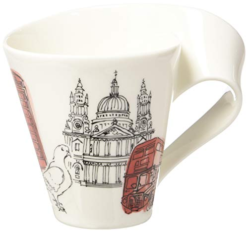 Villeroy & Boch Cities of the World Kaffeebecher London, 300 ml, Höhe: 11 cm, Premium Porzellan, rot