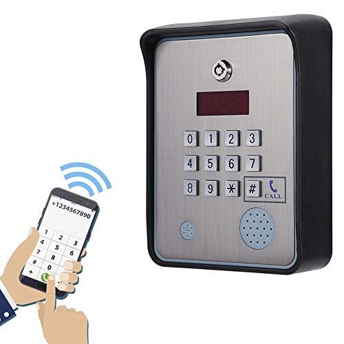 Citofono audio GSM, controller di accesso apriporta CC 12V Sistema di controllo accessi citofono in acciaio inossidabile per cancello aperto Controller di accesso di sicurezza visitatori