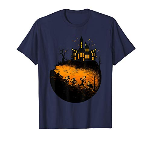 Disney Mickey And Friends Halloween Group Shot Camiseta