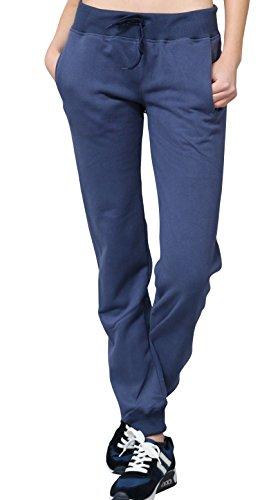 Sassyclassy Designer Jogginghose Damen mit Darling Print hinten by Sporthose in Blau | M-L | Mit 2 Taschen, elastischem Bund & Kordelzug | Sportliche Sweatpants aus Jersey | Tanzhose & Sleepwear
