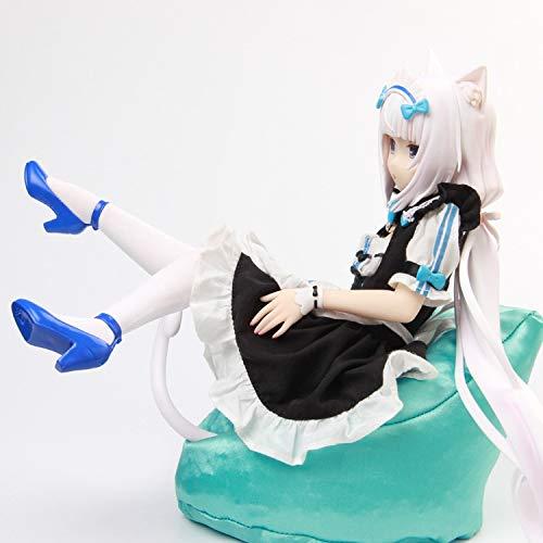 Kioiien Modelo de Anime Romantic-Z Nekopara Dibujos Animados Suave Cat Chocolat Maid Vanilla Sofá PVC Anime Figura Estatua Anime Juego Carácter Modelo Colección Toys Regalo 24 cm