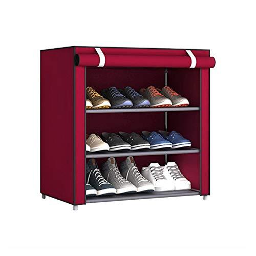 Acoding ACODIFICACIÓN Fácil De Montar Empáneo Multi-Store Mueble De Zapato Desmontable Estación para El Hogar Estación Espacial Provincial Stepping Polvo Gabinete De Zapato No Tejido (Color : B)