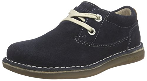 Birkenstock Shoes Birkenstock Shoes Unisex Memphis Kinder Derby, Blau (Dark Blue), 33 EU