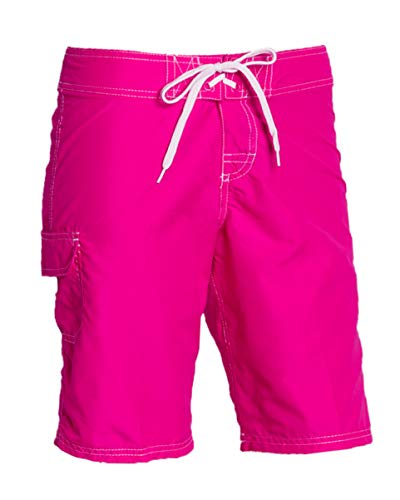 Kanu Surf Women's Plus UPF 50+ Active Swim Board Shorts (Reg & Plus Sizes), Marina Pink, 1X