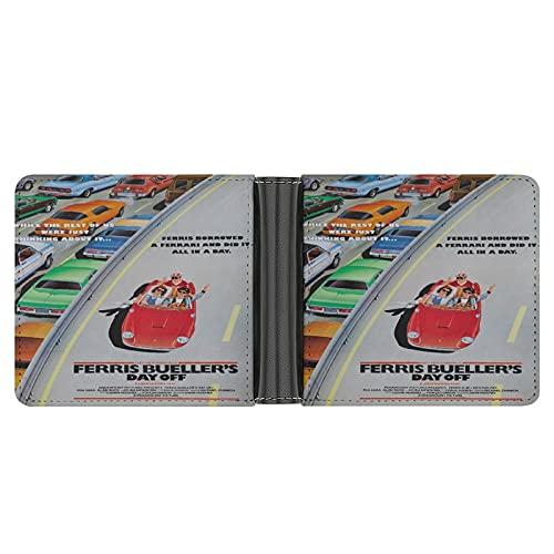 Ferris Buellers Day Off Portefeuille en cuir PU pour cartes de crédit, espèces, etc
