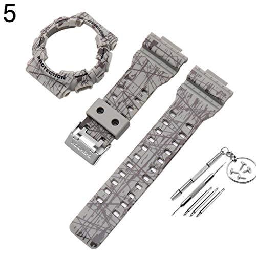KimcHisxXv Armband Kompatibel FüR Casio G-Shock Ga-110 Ga100 Gd-120,Weiche Silikon Wasserdicht Ersatz UhrenarmbäNder SchutzhüLle FüR Casio G-Shock Ga-110 Ga100 Gd-120