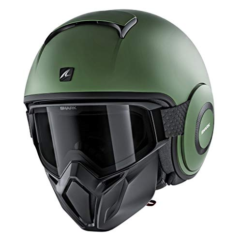 Shark HE3306DGMAL Unisex-Adult Full Face Helmet (Matte Green, L - 59-60 cm - 23.2-23.6'')