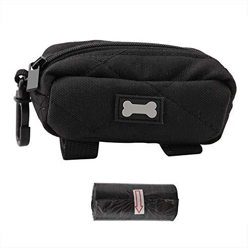 Broco waterdichte outdoor-houder tas voor huisdieren, met een rol, van papier (zwart)