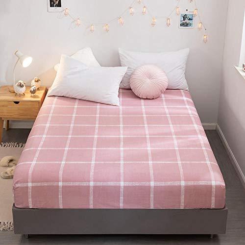 CYYyang Protector de colchón de bambú Funda de colchón y Ajustable Sábana de Cama Individual Estampada de algodón-5_150 * 200cm