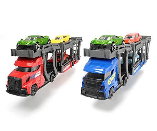 Dickie Toys Car Carrier, Autotransporter für 3 PKW's, inkl. 3 Spielzeugautos, 2 verschiedene Ausführungen, Länge: 28 cm, für Kinder ab 3 Jahren