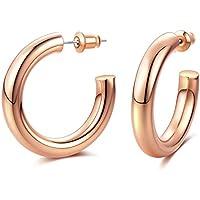 Earller Thick Chunky Open Hoops Earrings