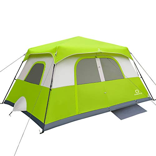 OT QOMOTOP Tents, 8 Person 60 Seconds Set Up Camping Tent, Waterproof Pop Up Tent with Top Rainfly, Instant Family Tent, Advanced Venting Design, Green