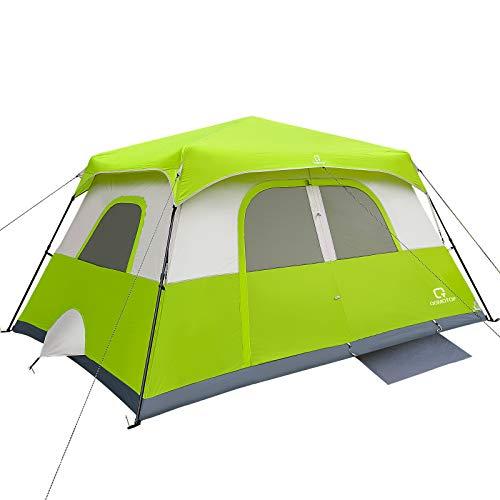 OT QOMOTOP Tents, 6 Person 60 Sec Set Up Camping Tent, Waterproof Pop Up Tent with Top Rainfly, Instant Cabin Tent, Advanced Venting Design, Green