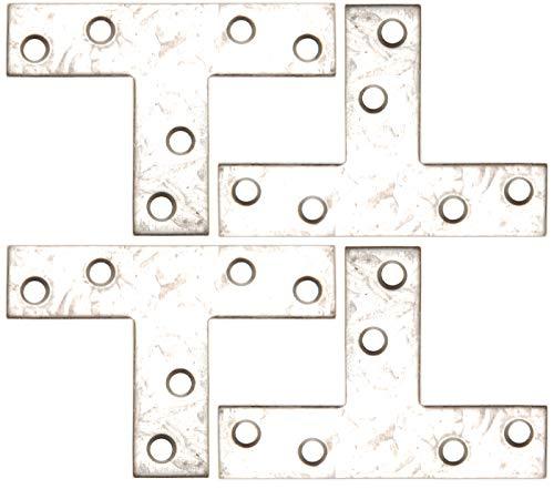 BGS Diy 80927 | T-Winkel | 70 x 50 x 16 mm | 4-tlg.