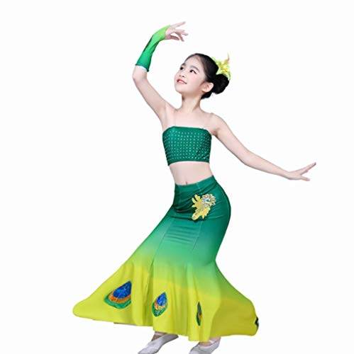SMACO Kinderdans Kostuums, Pauw Dans Kostuums Meisjes Show Competitie Jurken