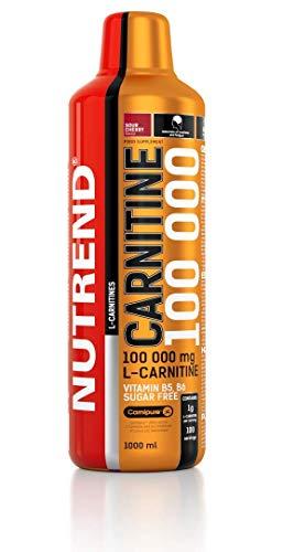 Nutrend CARNITINE Liquid 100 000 1000ml Cherry Fat Bur Weight Loss Sports Taurine, Caffeine, Practical monodose, Green tea extract, vitamins B1, B5 and B6, L-carnitine, taurine, chromium
