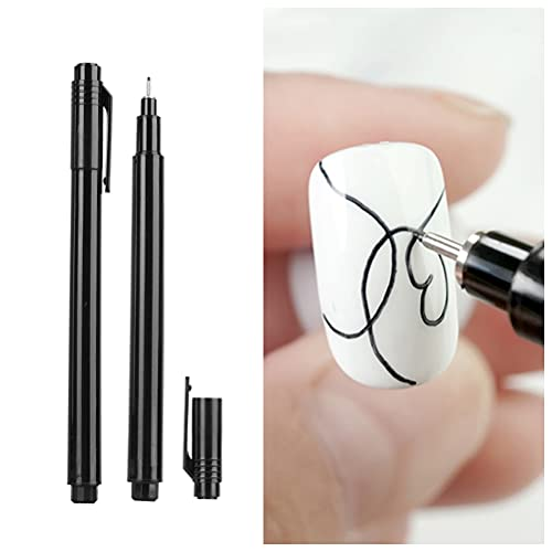 Guillala 1 Pieza de Pluma de Graffiti de uñas Pluma de Pintura de uñas Rotulador de uñas DIY Ideal para Niñas Manicure Home Nail Art Salón de uñas