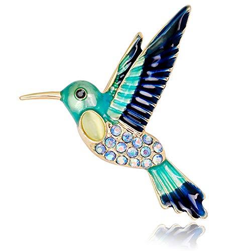 Lumanuby Personalidad broche animal colibrí aleación de cristal pin hombres y mujeres pin ropa decoración boda fiesta de bodas regalo de vacaciones