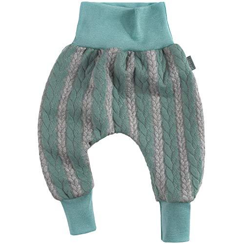 """Lilakind"""" Kinder Baby Hose Pumphose Babyhose Kinderhose Strickhose Strick Zopfmuster Blau Grau Gr. 50/56 - Made in Germany"""