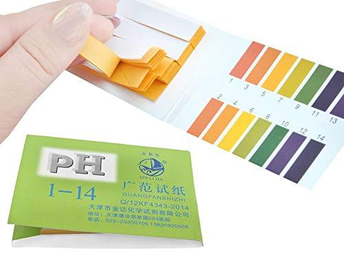 Iso Trade PH Teststreifen 80Stk. Testpapier 1-14 Indikatorpapier Wassertest Strips 2850