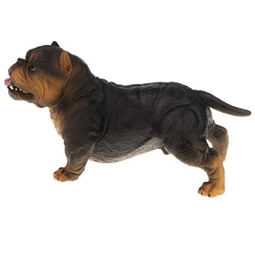 Unbekannt Lebensechte Tiermodell Abbildung Spielzeug Hund Figur Home Decor Shiba Inu - American Bully Pitbull