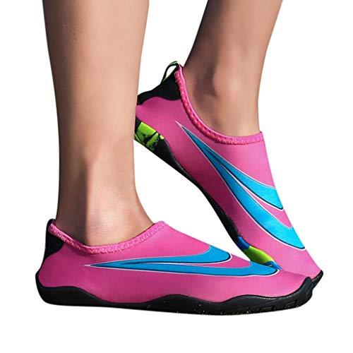 Zapatos de deportes acuáticos descalzos de secado rápido Aqua Yoga Calcetines Slip-on para mujeres y hombres