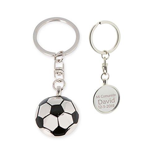 Llavero con forma de balón futbol, PERSONALIZADO. Pack 10 unidades