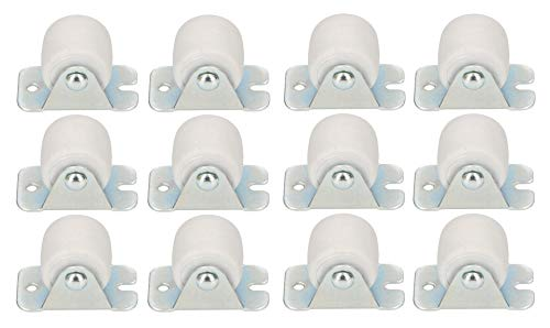KOTARBAU Transportrollen 22 mm / 33 mm Gummi Univer. Stahlrahmen Möbelrollen Alle Böden Lenkrollen Kisten Fix Schieberollen Werkzeugrollen Bockrollen (12, 33 mm)