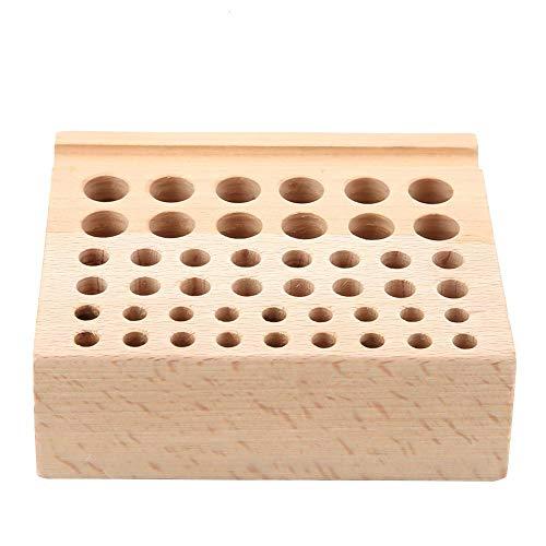 Akozon 46 Holes Lederhandwerk Tool Holz Rack Holz Punch Tool Ständer Halter Veranstalter