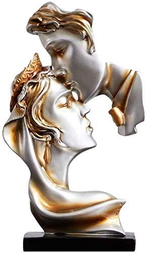 CLQ Escultura De Pareja Abstracta-Estatua De Arte Moderno-Decoración Contemporánea para El Hogar-Adornos De Mesa